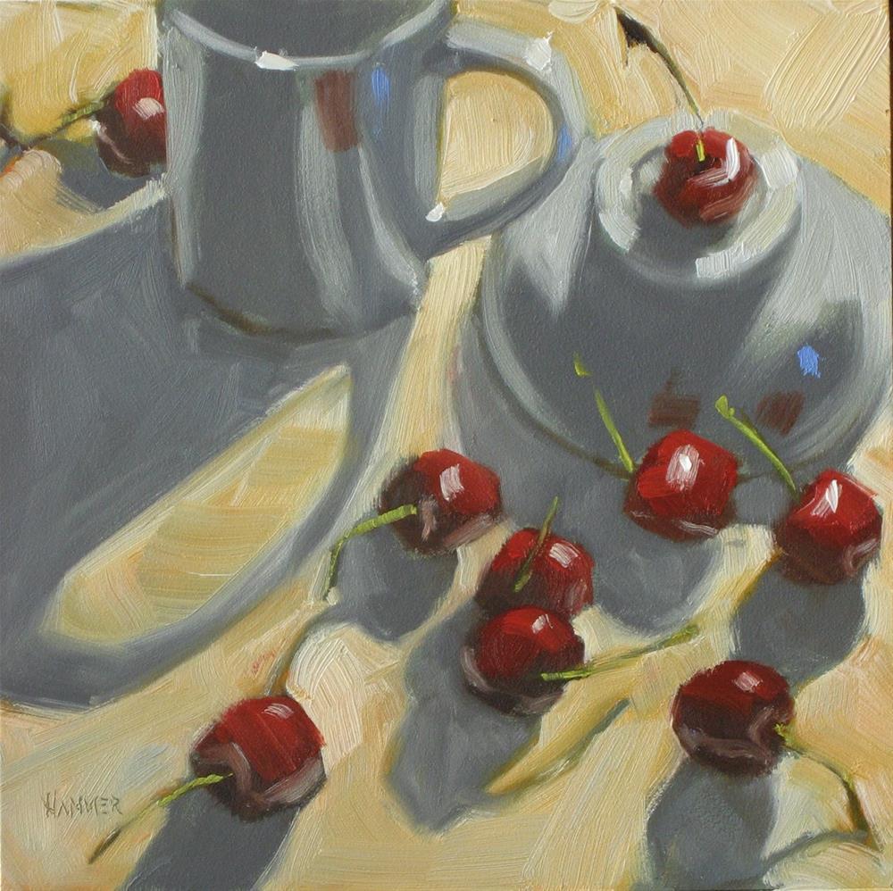 """""""Speech! Speech! 6x6 oil"""" original fine art by Claudia Hammer"""