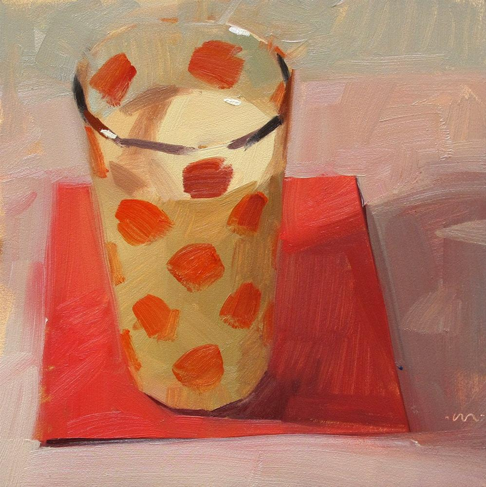 """Don't Spill Your Milk"" original fine art by Carol Marine"
