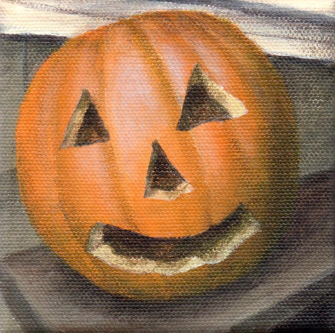 """Boy Pumpkin"" original fine art by Debbie Shirley"