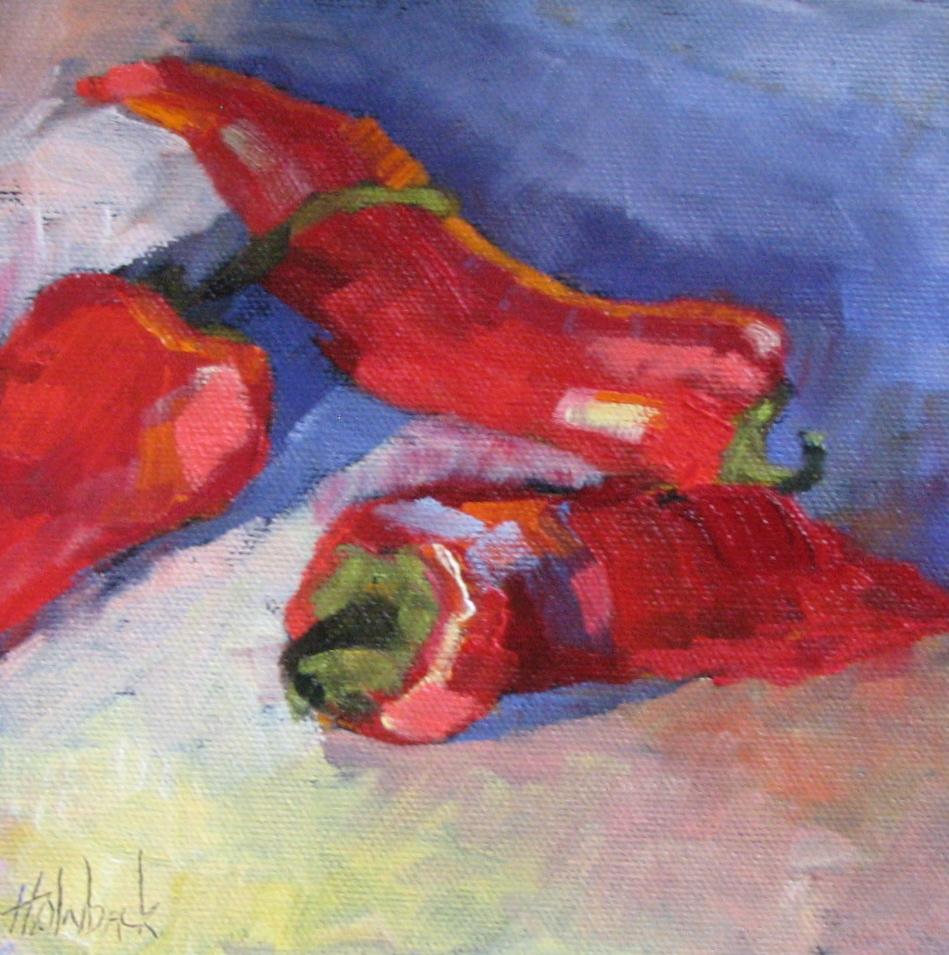 """Three Hot Ones"" original fine art by Pam Holnback"