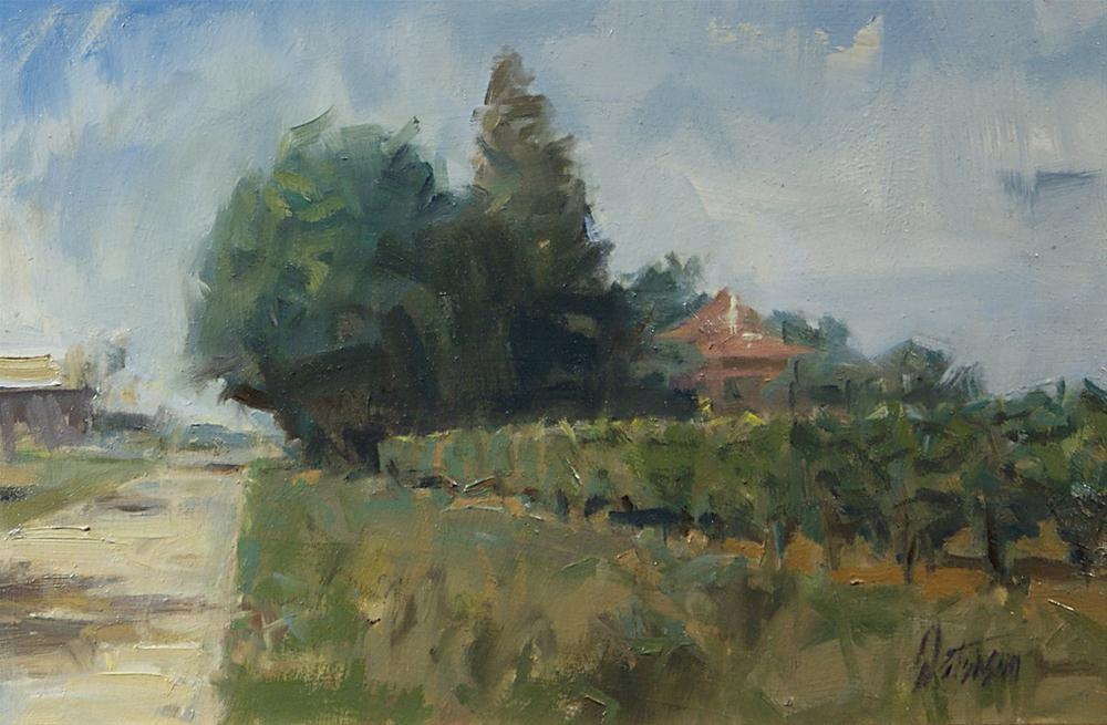 """""""French Vineyard"""" original fine art by Mike Peterson"""