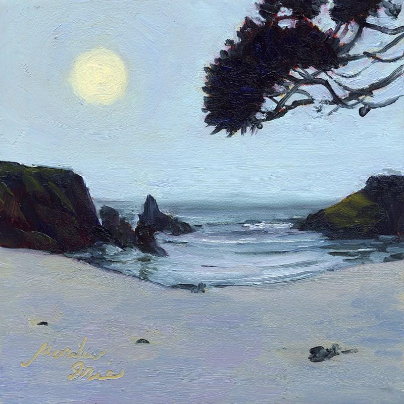 """Pine by the Beach"" original fine art by Mariko Irie"