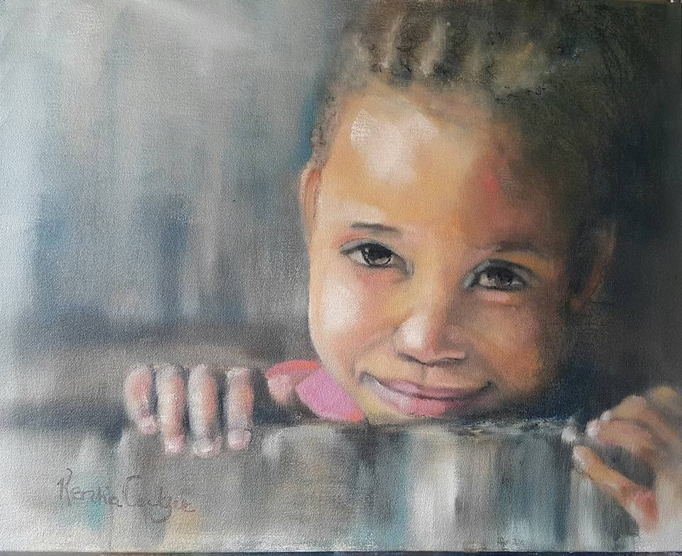 """Just a little shy"" original fine art by Rentia Coetzee"