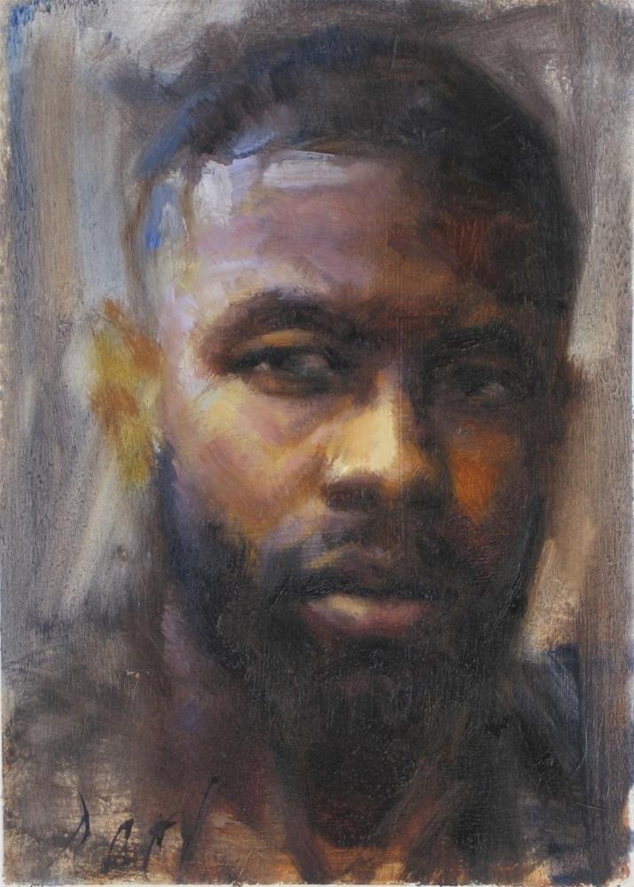 """Portrait of a man"" original fine art by Daniel Peci"