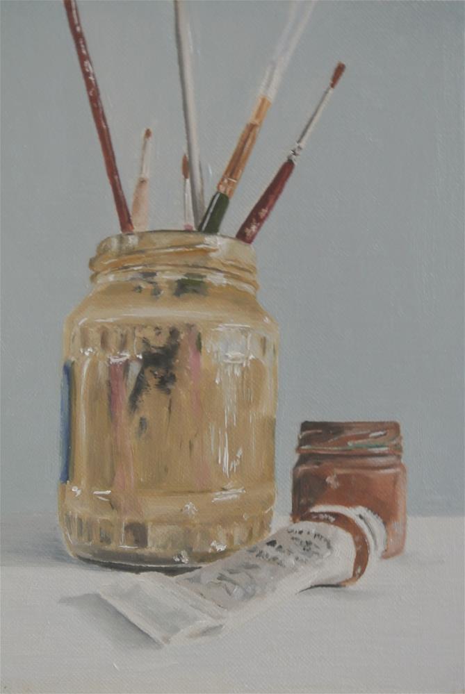 """My Trusty Companions"" original fine art by James Coates"