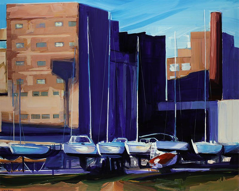 """Yachts and Mills"" original fine art by Chris Breier"