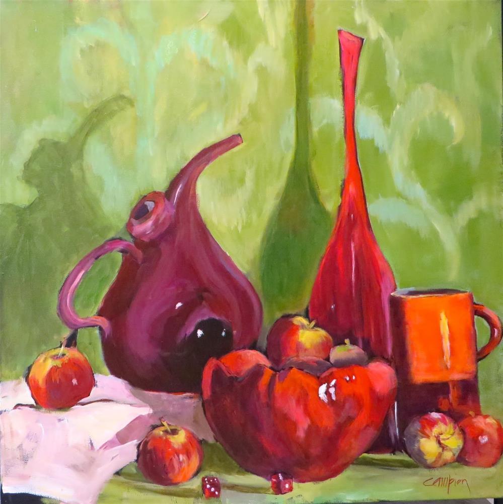 """893 Lady in Red"" original fine art by Diane Campion"