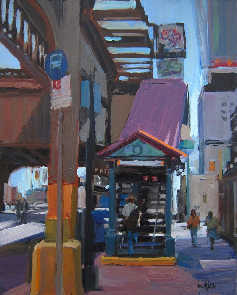 """J Train Blues"" original fine art by Patti Mollica"