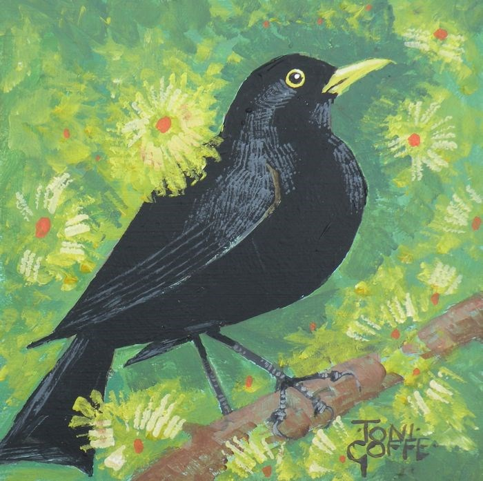 """Blackbird"" original fine art by Toni Goffe"