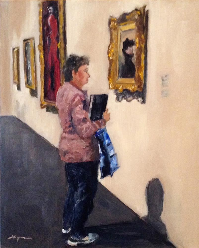 """Hanging Out With Sargent at the MET"" original fine art by Shelley Koopmann"