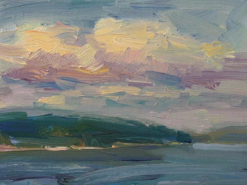 """Harstene Island"" original fine art by Kathryn Townsend"
