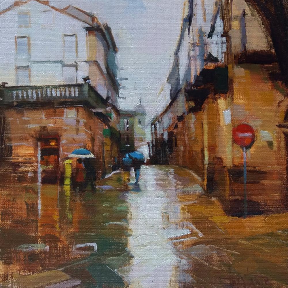 """Streets of Santiago"" original fine art by Víctor Tristante"