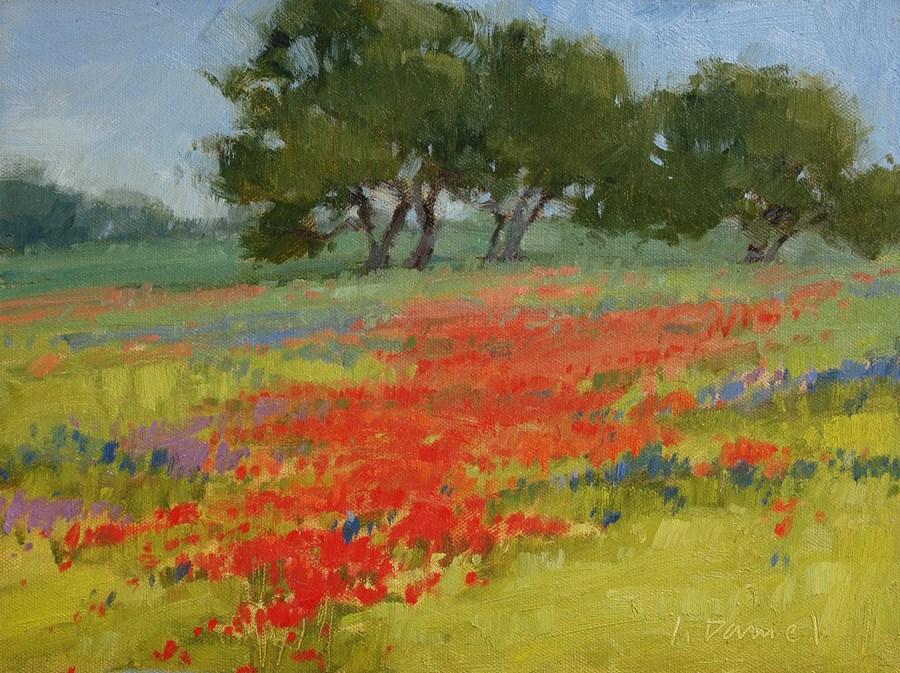 """Crimson Carpet"" original fine art by Laurel Daniel"