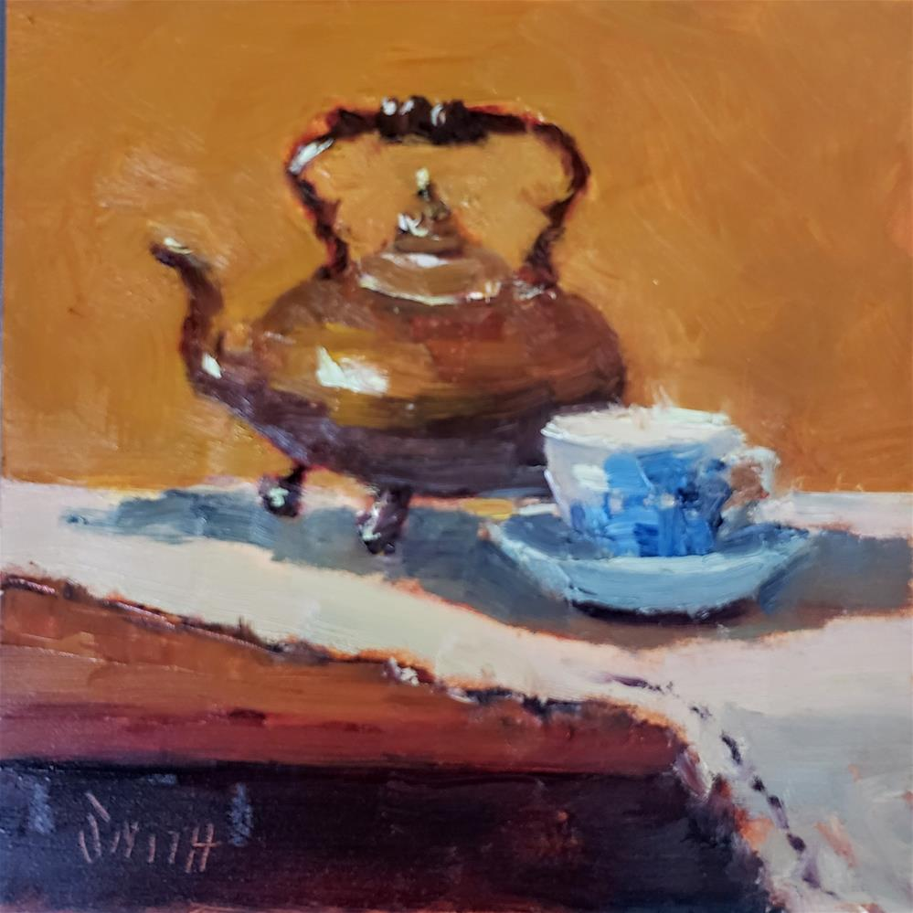 """Teatime"" original fine art by Barbie Smith"