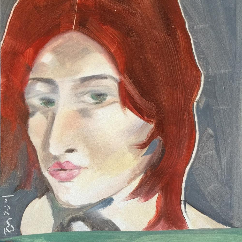 """""""156 On My Mind"""" original fine art by Jenny Doh"""