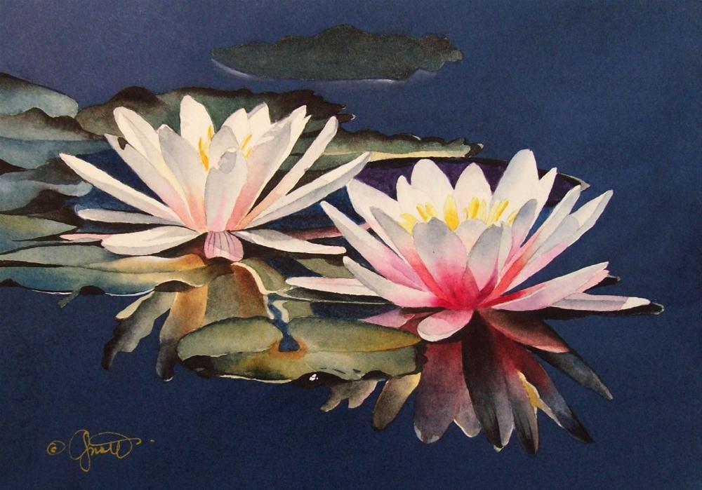 """Floating Friends"" original fine art by Jacqueline Gnott, TWSA, WHS"
