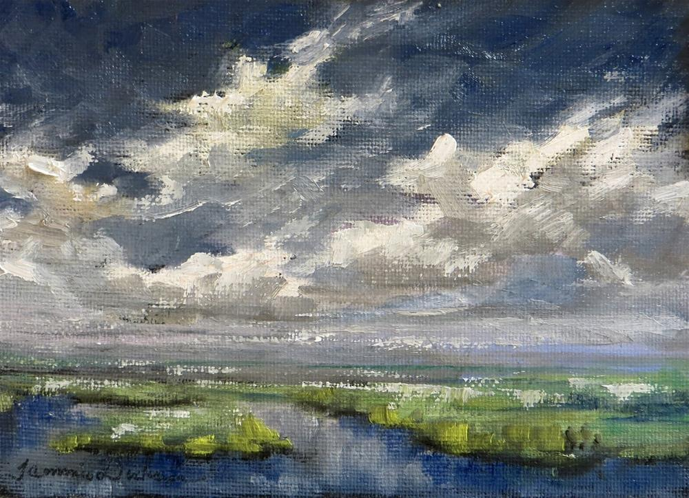 """Clouds Over the Marshland"" original fine art by Tammie Dickerson"