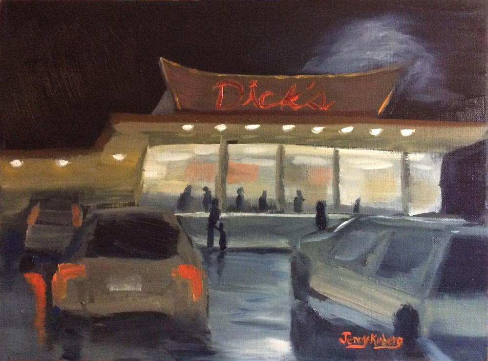 """""""Burger joint"""" original fine art by Jenny Kinberg"""