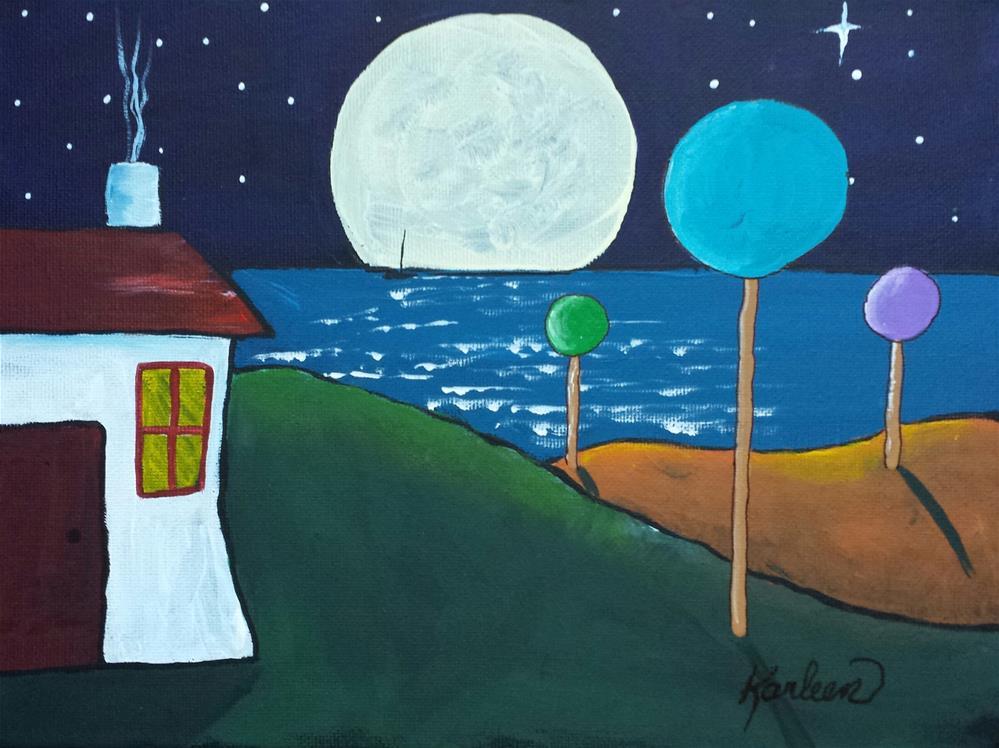 """Peaceful Night"" original fine art by Karleen Kareem"