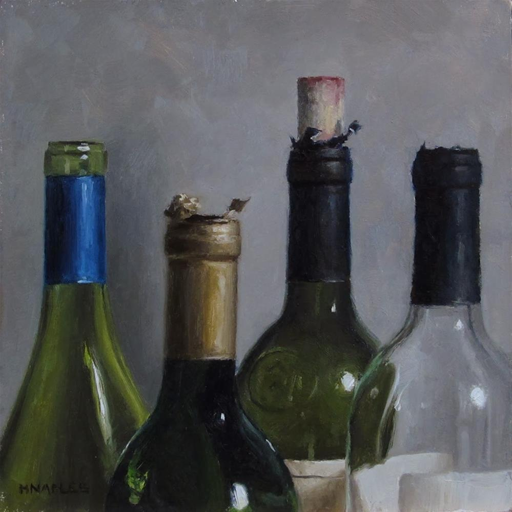 """Uncorked Tops"" original fine art by Michael Naples"