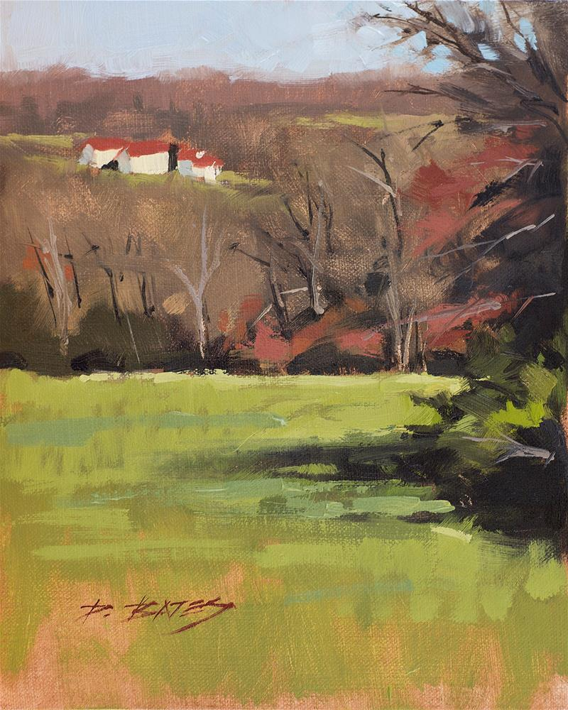 """That Farm in the Distance"" original fine art by David Bates"