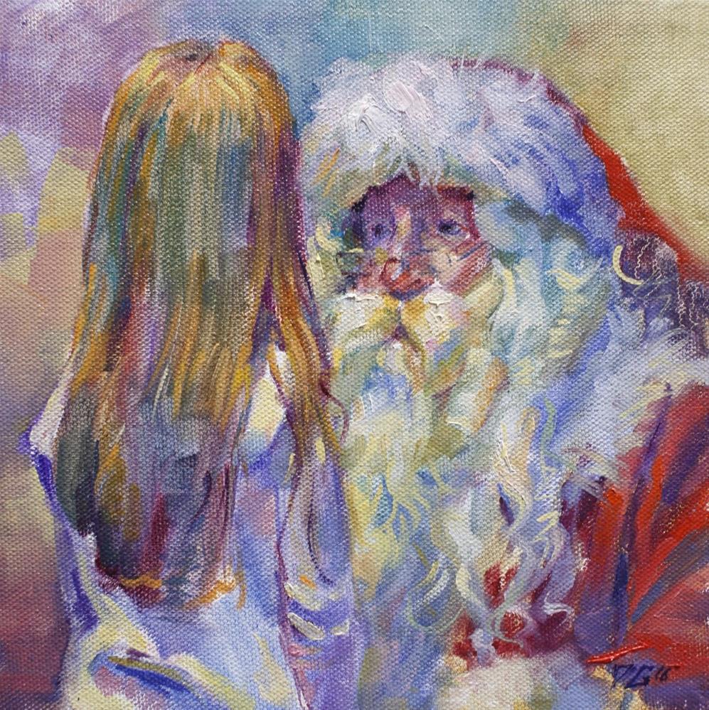 """Santa"" original fine art by Dimitriy Gritsenko"