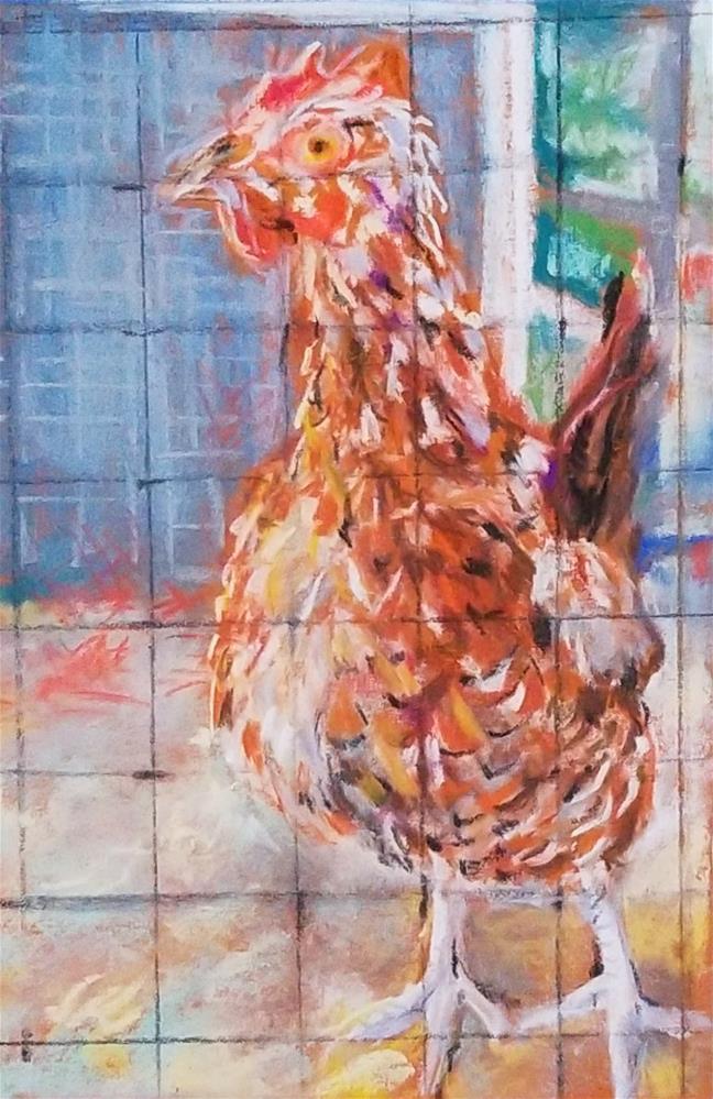 """""""Rooster"""" original fine art by Jean Krueger"""