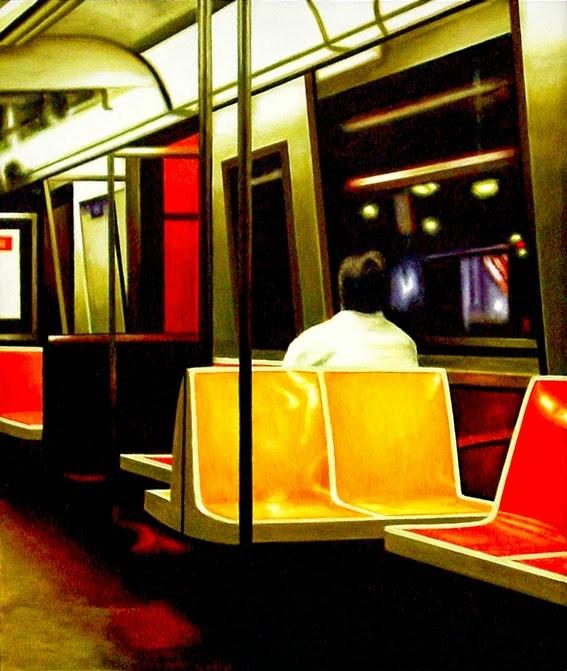 """Underground - Painting Of New York Subway"" original fine art by Gerard Boersma"