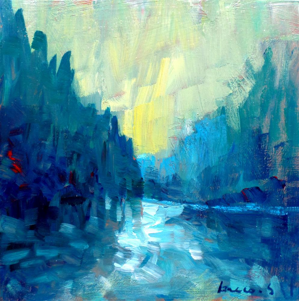 """THE RIVERS"" original fine art by salvatore greco"