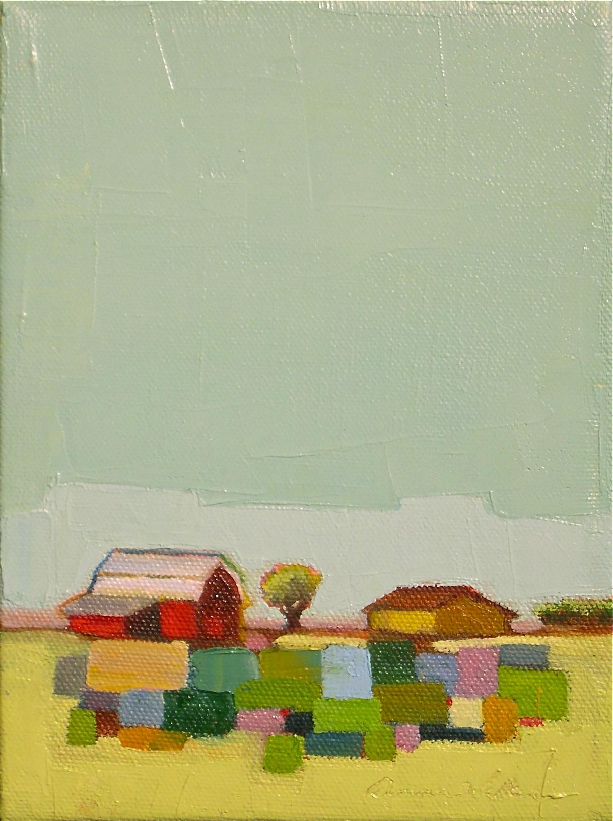 """""""Little Quilt"""" original fine art by Donna Walker"""
