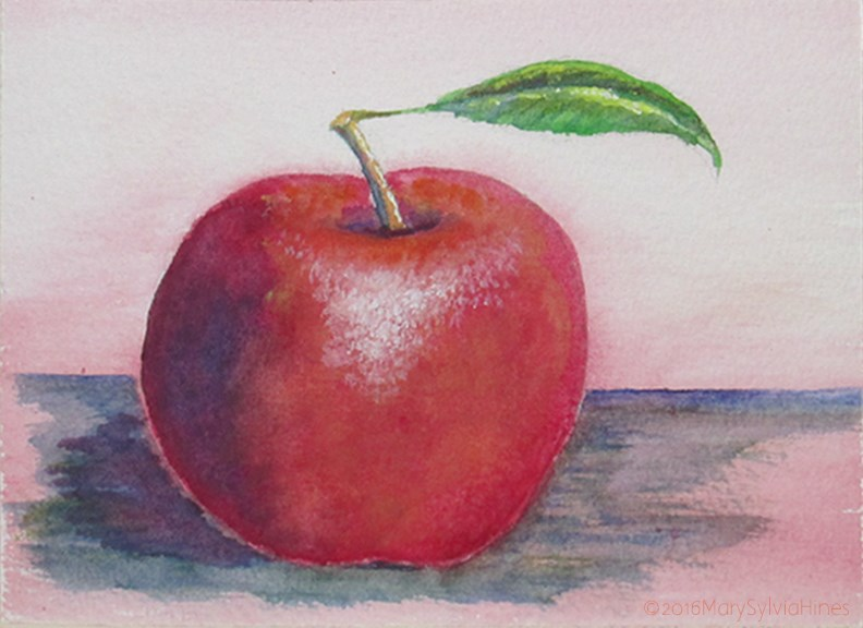 """Apple 1"" original fine art by Mary Sylvia Hines"
