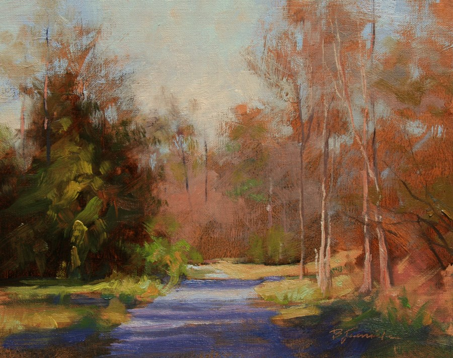 """The Shortcut Path"" original fine art by Barbara Jaenicke"