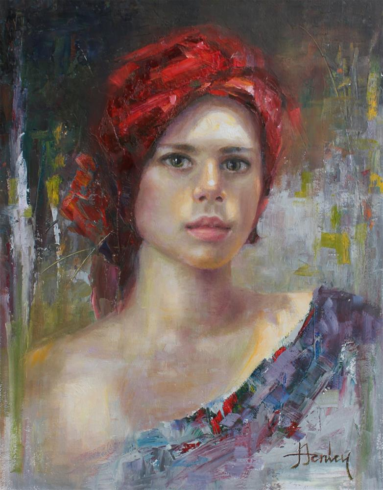 """Sasha III"" original fine art by Denise Henley"