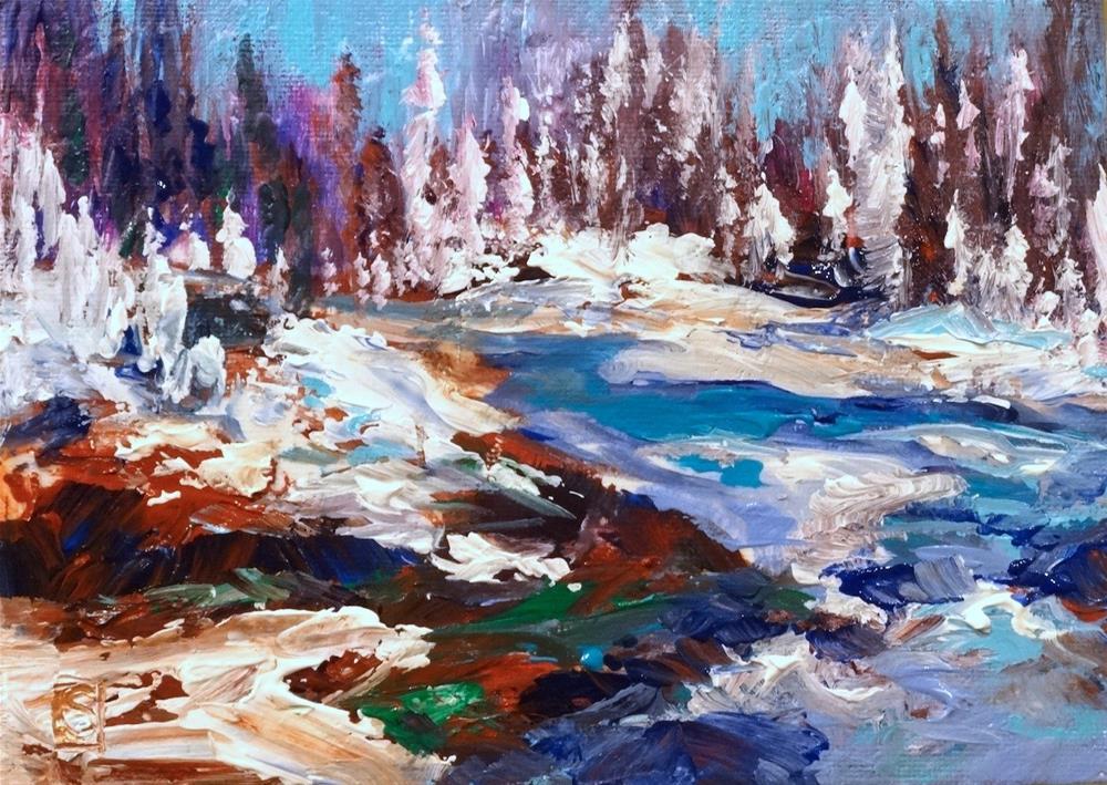 """5006 - Snow Melt - Framed"" original fine art by Sea Dean"