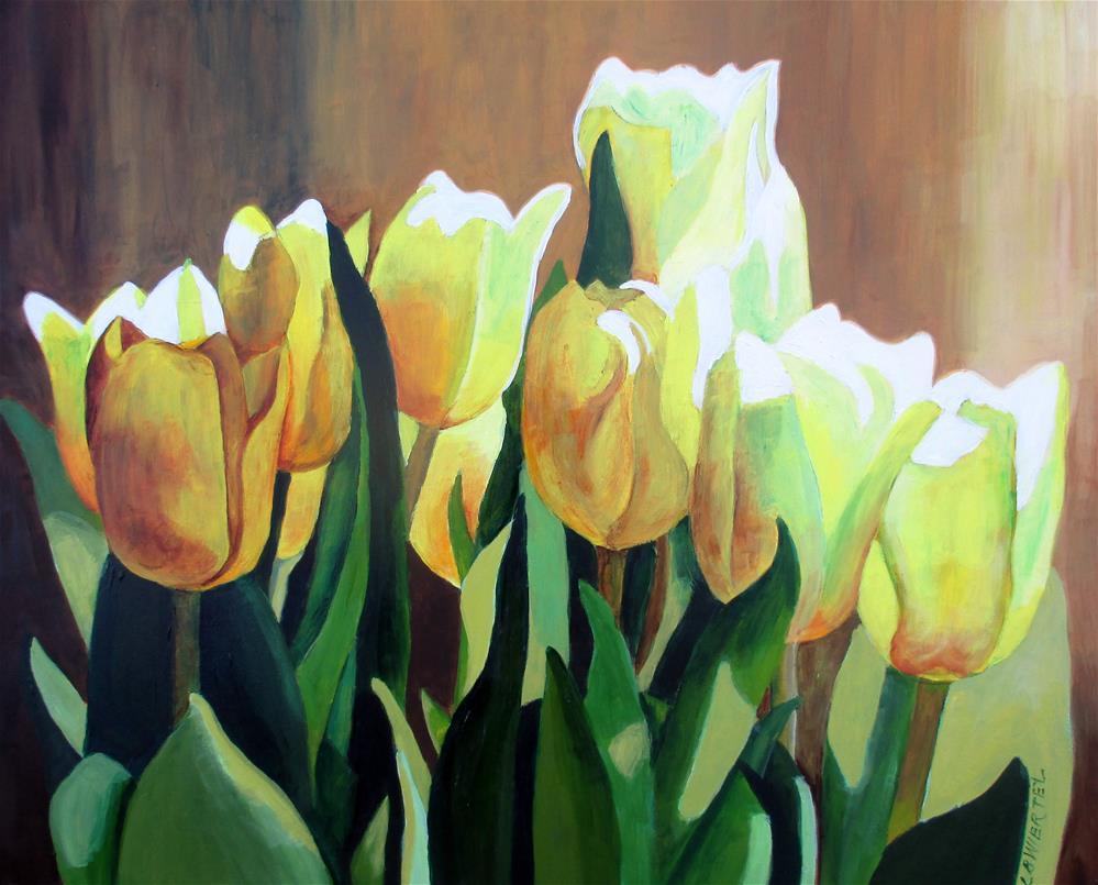 """""""Yellow Tulips"""" original fine art by Lisa Wiertel"""