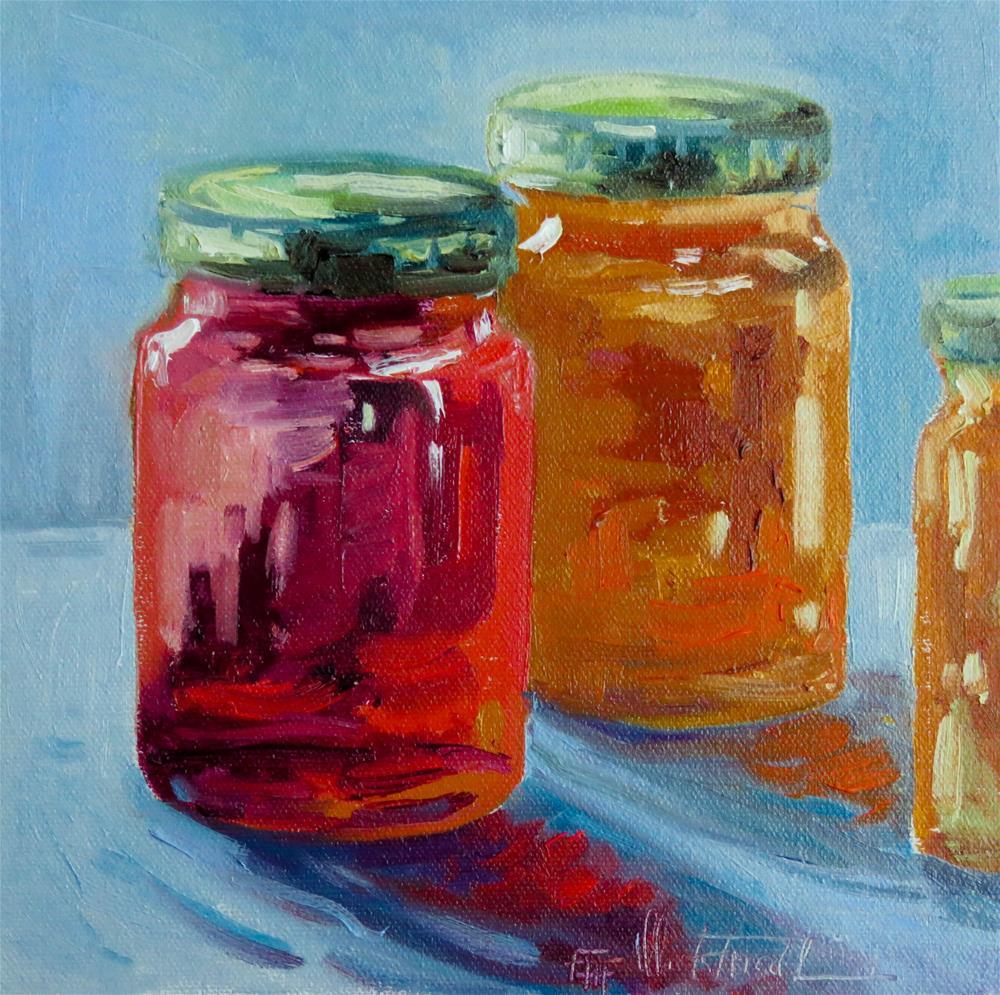 """""""Homemade jam"""" original fine art by Christa Friedl"""