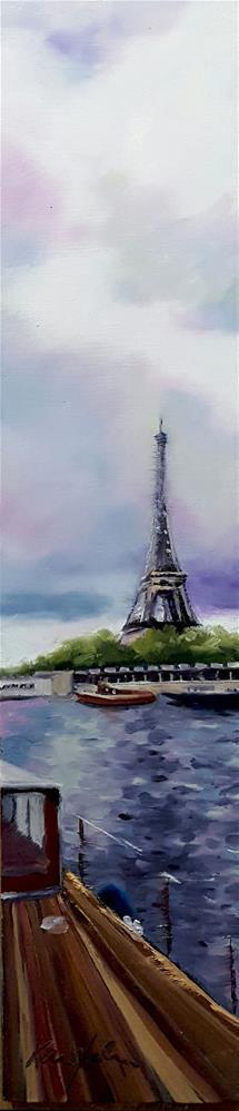 """The Tower from the Seine"" original fine art by Karen Weber"