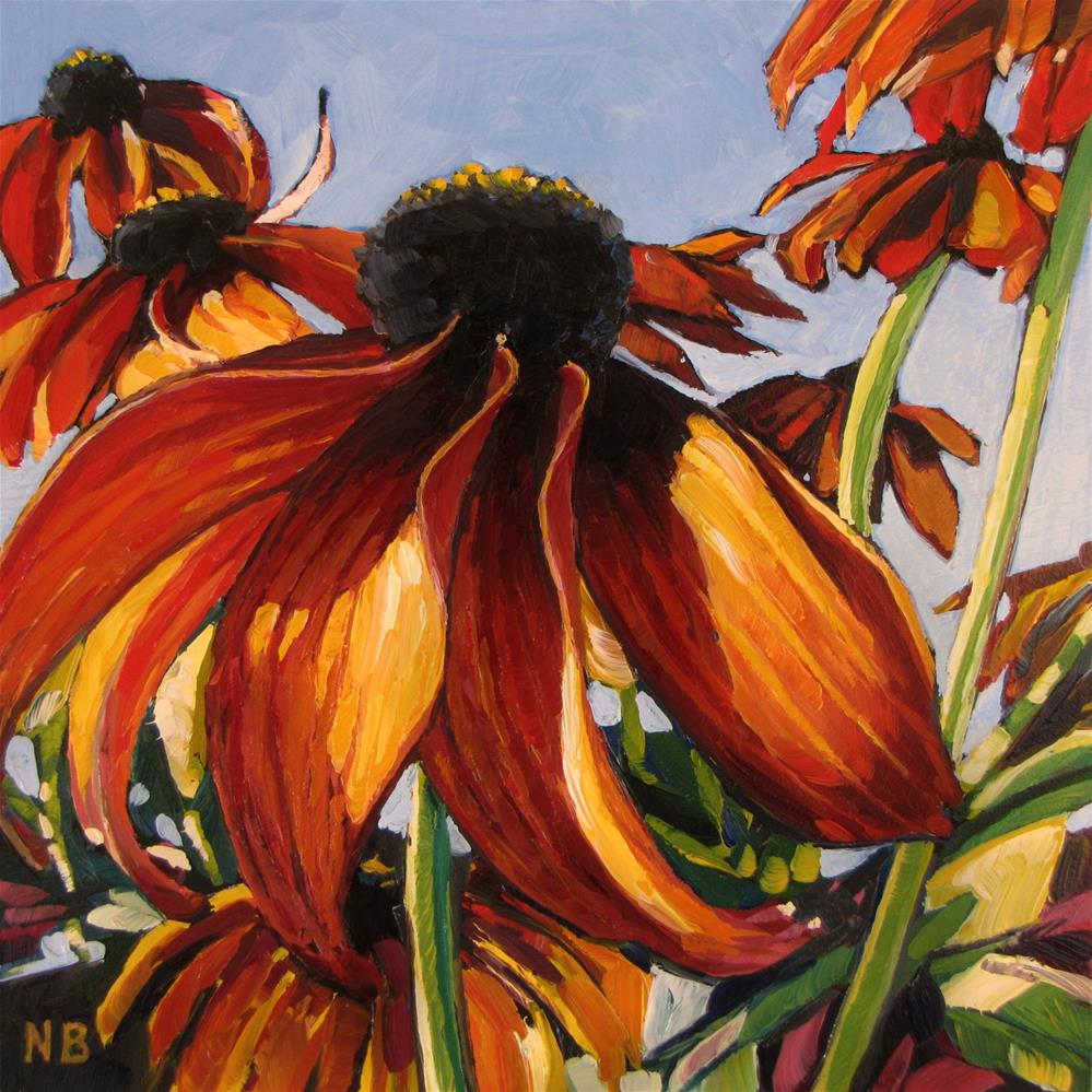 """Coneflower Crew"" original fine art by Nora Bergman"