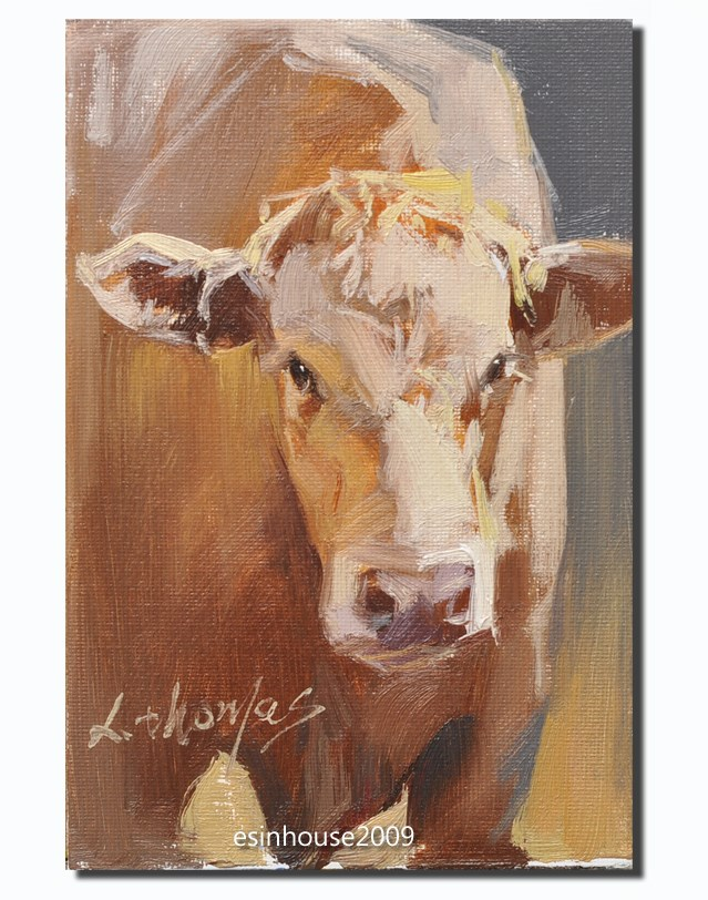 """HIGHLAND Cow"" original fine art by Thomas Xie"