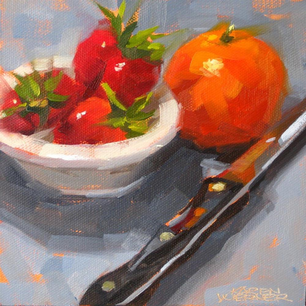 """Mandarin On Edge"" original fine art by Karen Werner"