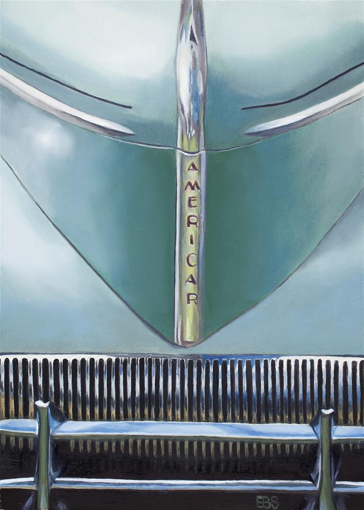 """1941 Willys Americar Grill"" original fine art by Elaine Brady Smith"