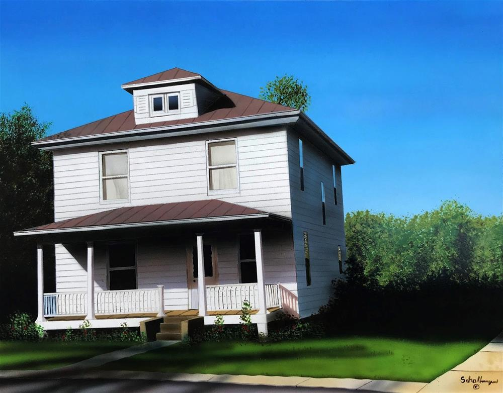 """House in the Country"" original fine art by Fred Schollmeyer"