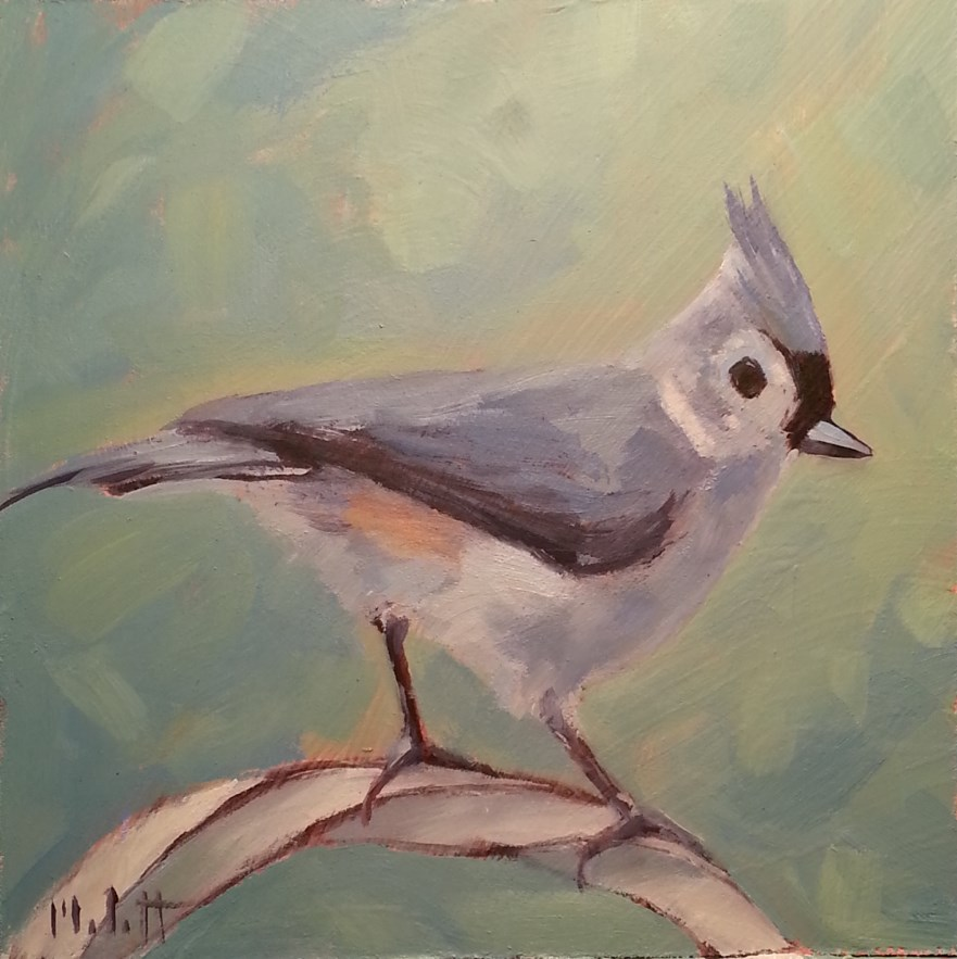 """Tufted Titmouse Bird Painting Original Art"" original fine art by Heidi Malott"