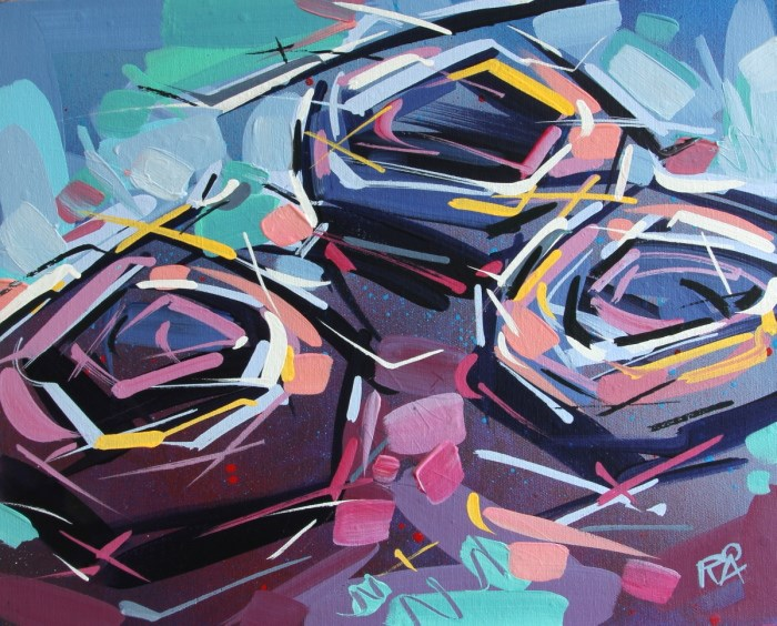 """Bird's Nest Abstraction 50"" original fine art by Roger Akesson"