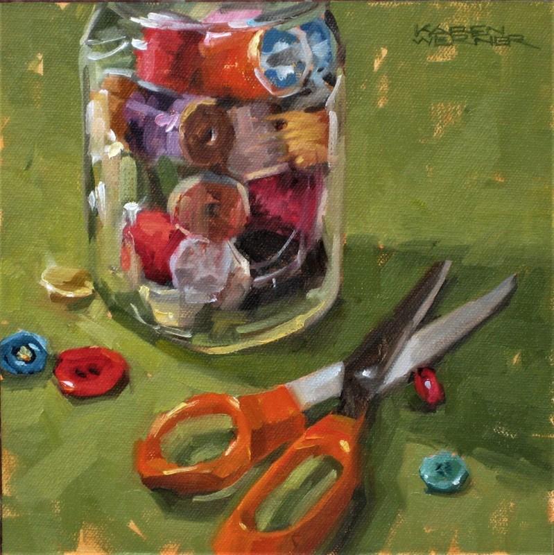 """""""Notions"""" original fine art by Karen Werner"""