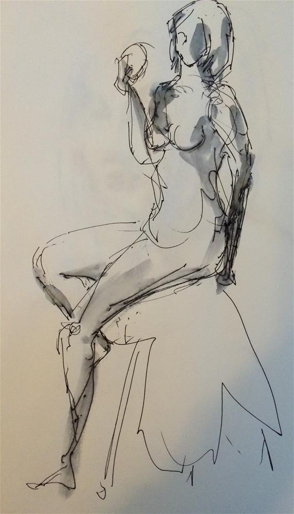 """""""Nude 4"""" original fine art by Naomi Bautista"""