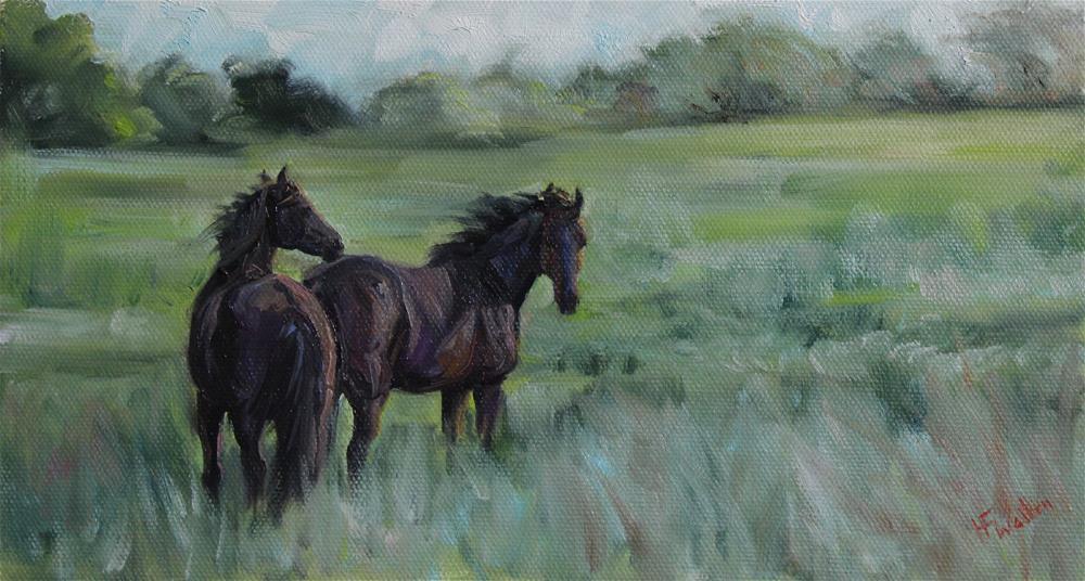 """""""Breezy Day"""" original fine art by H.F. Wallen"""