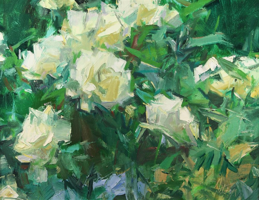 """""""Yellow Roses"""" original fine art by Mike Peterson"""