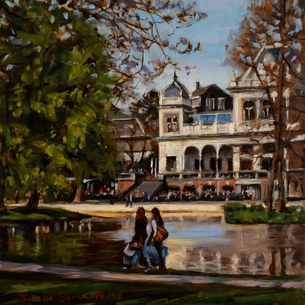 """""""Saturday in Vondelpark"""" original fine art by Jonelle Summerfield"""