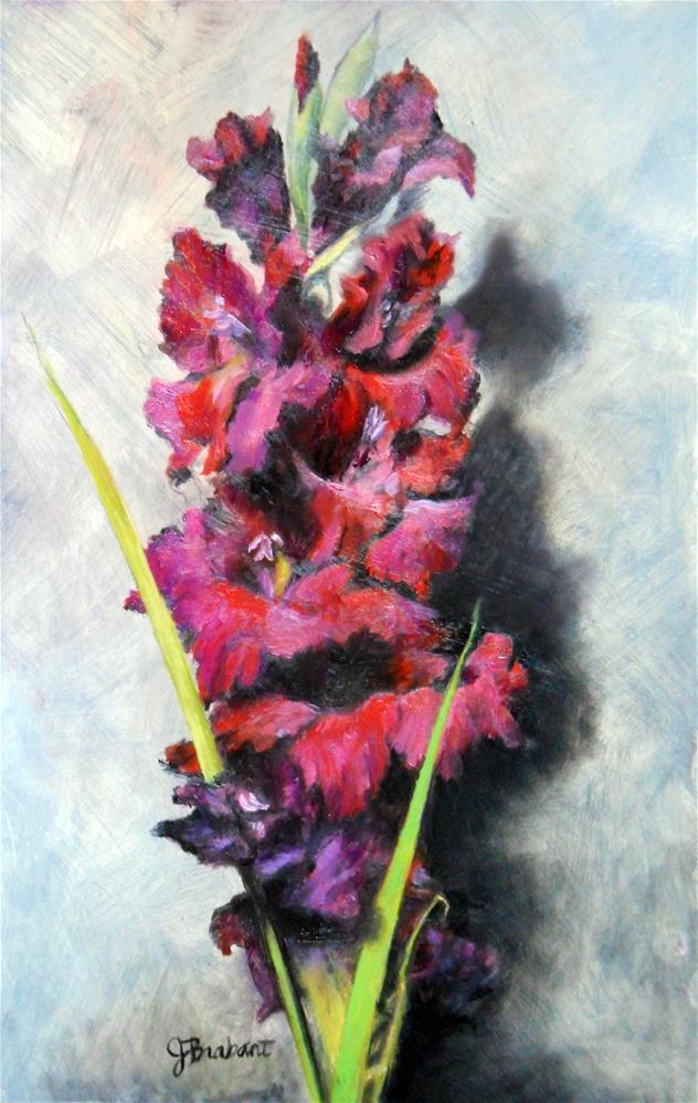 """Joy and Gladiola"" original fine art by Jill Brabant"